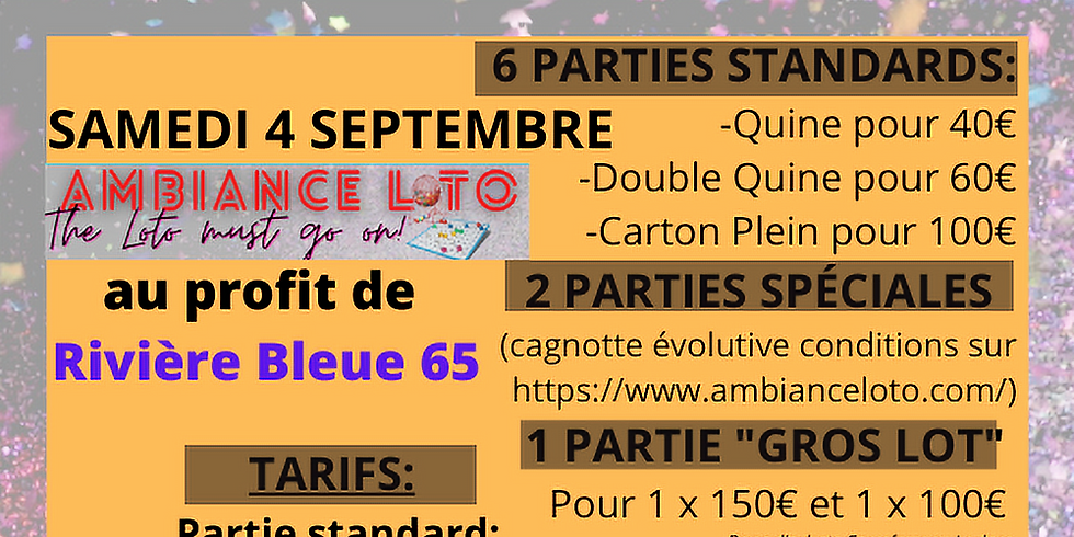 Loto Rivière Bleue 65 (4 septembre)