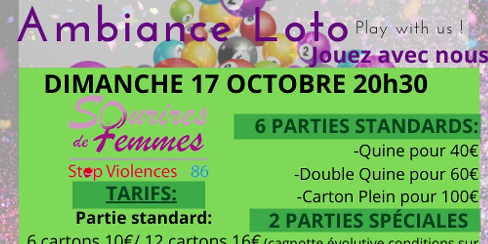 Loto Sourires de femmes STOP VIOLENCES 86 dimanche 17 octobre 20h30