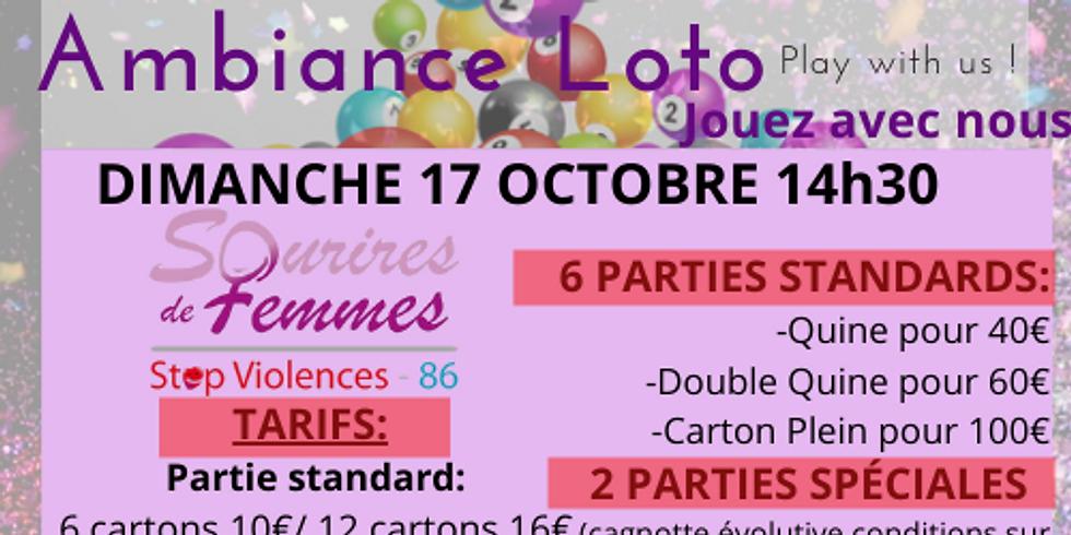 Loto Sourires de femmes STOP VIOLENCES 86 dimanche 17 octobre 14h30