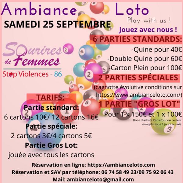 Loto Sourires de femmes STOP VIOLENCES 86 (25 septembre )