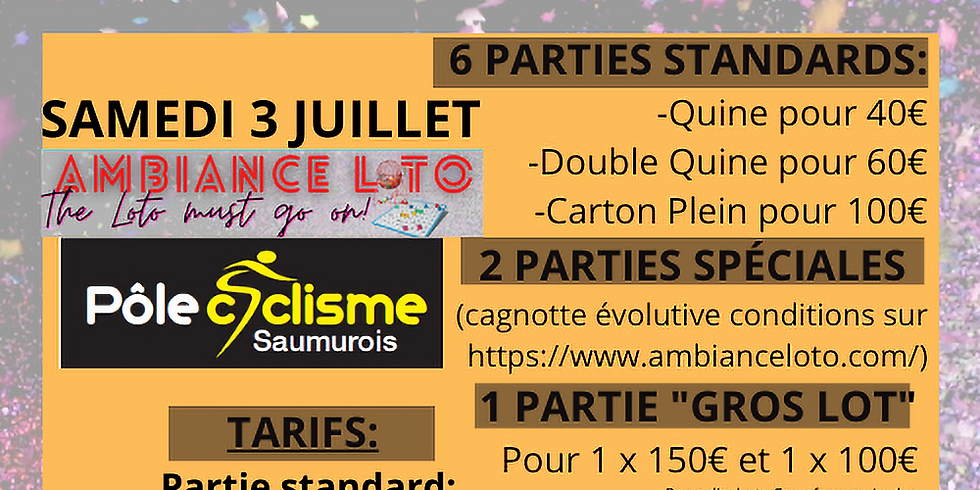 Loto du Pôle cyclisme Saumurois (3 juillet)