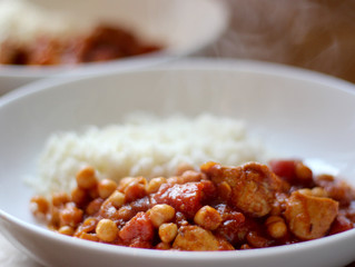 Spiced chicken and chickpea stew