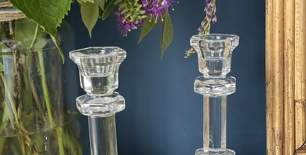 Pareja de candelabros hexagonales ( 2 unidades)