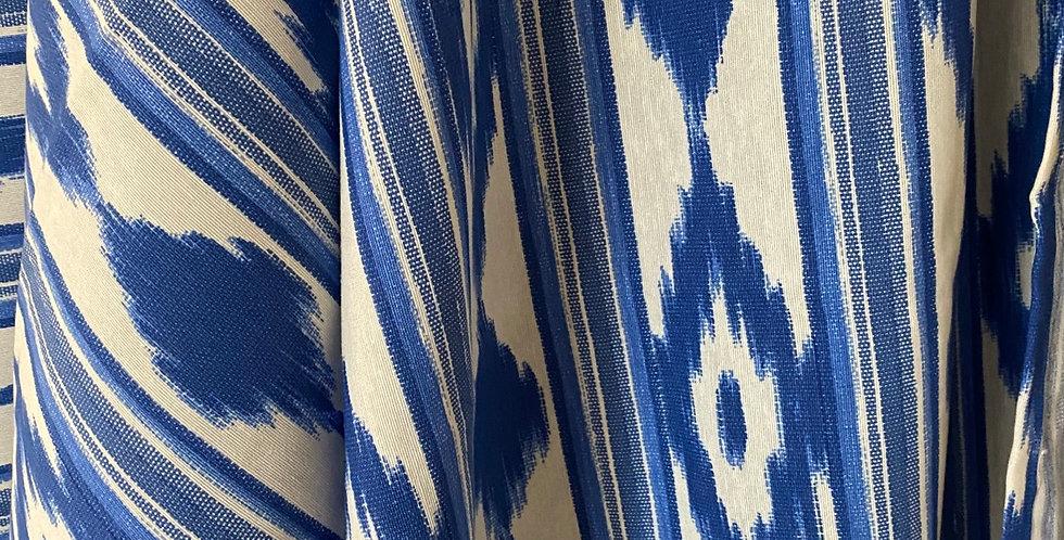 "Mantel "" ikat "" azul 1,50 x 2,80 cm"