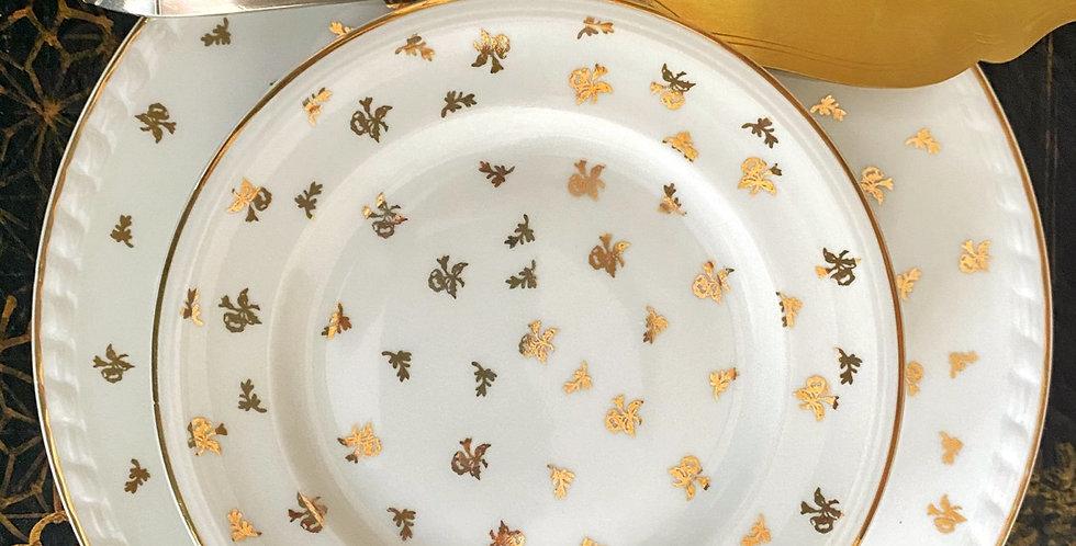 6 Platos de té 16 cm con bandeja