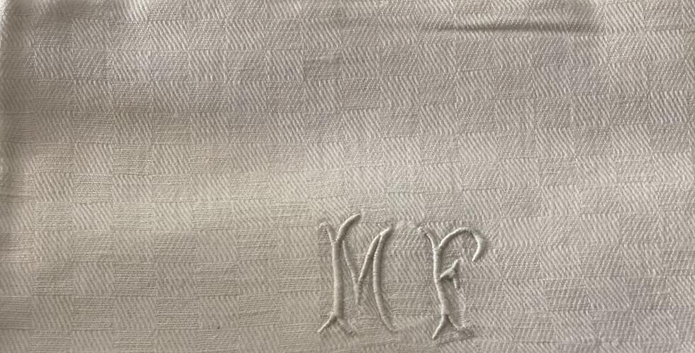 6 Servilletas de damasco antiguas 50 x 40 cm