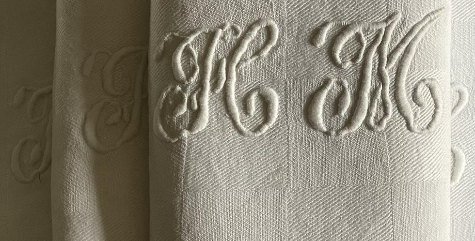 6 servilletas francesas damasco 67x70 cm