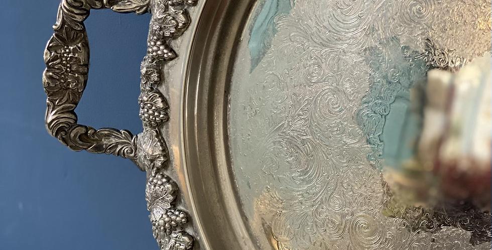 Bandeja inglesa baño de plata . Circa 1930