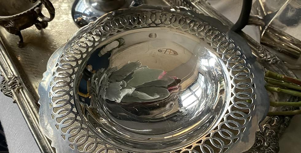 Frutero inglés baño de plata