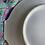 Thumbnail: 6 platos franceses  de merienda florecitas con bandeja