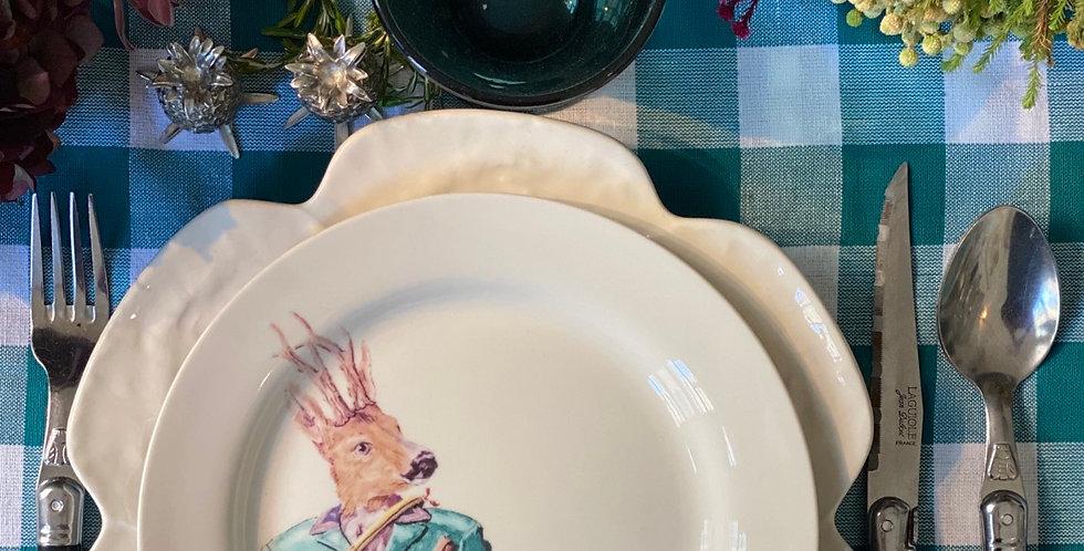Colección de cuatro platos animales