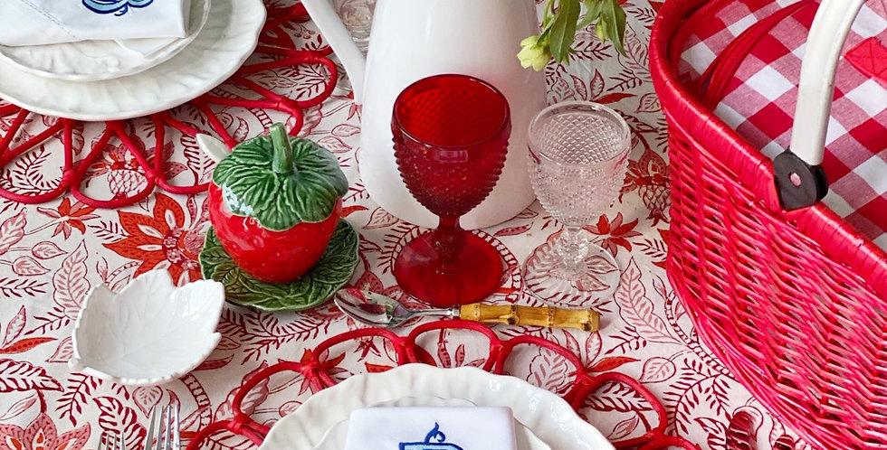 Mantel indio rojo 3,5 x 1,80 cm