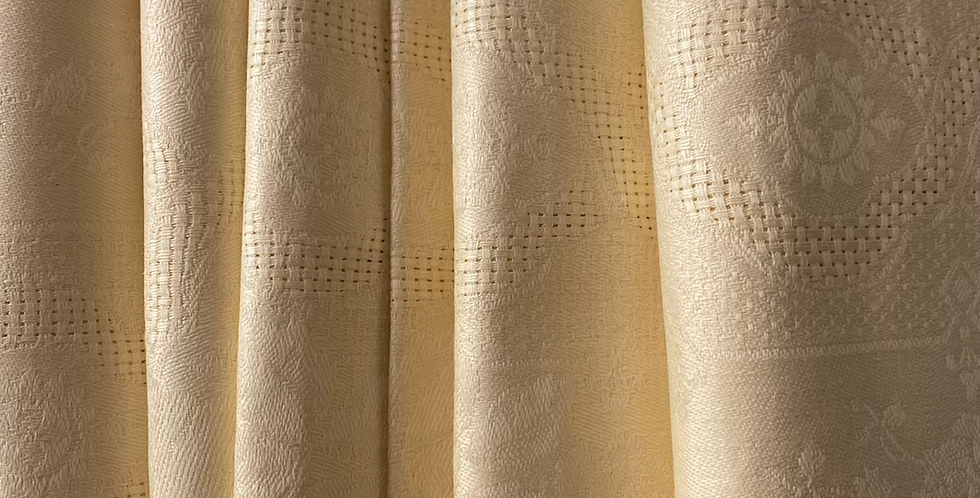 6 Servilletas de damasco amarillo pastel