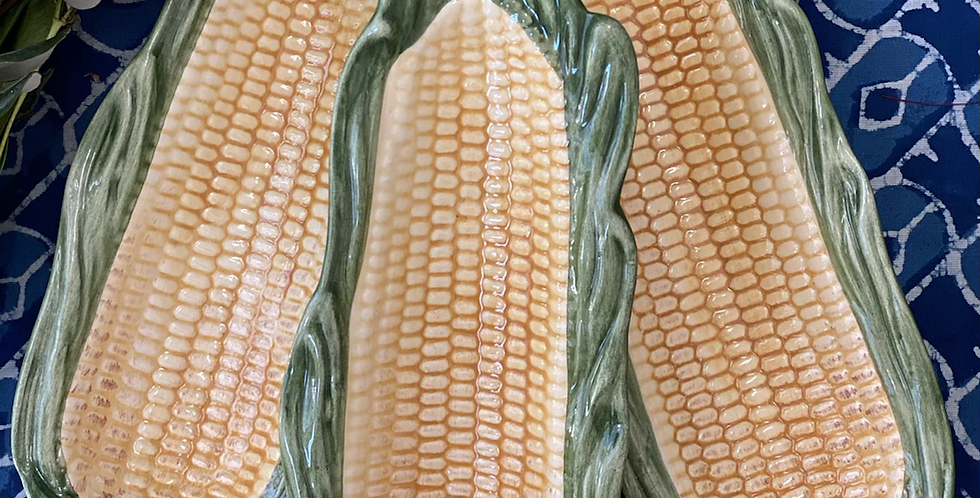 Plato en forma de maiz aperitivos