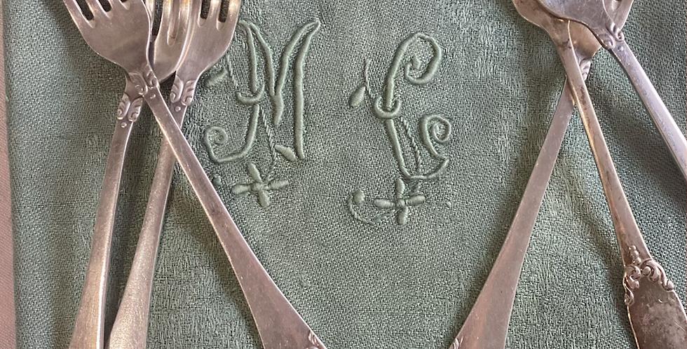 Juego de 6 tenedores  entrante , Circa 1920