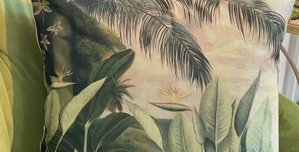 "Funda cojín ""flor tropic """