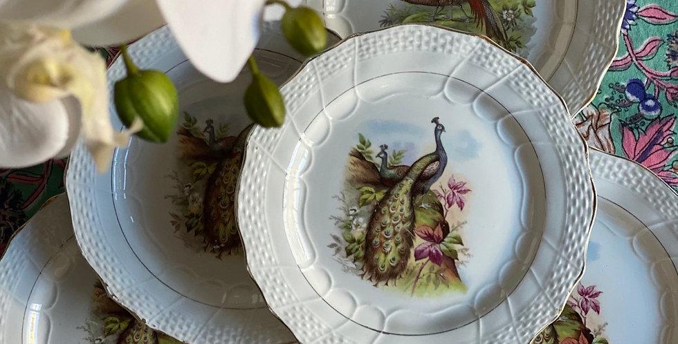 8 platos de merienda franceses 20 cm