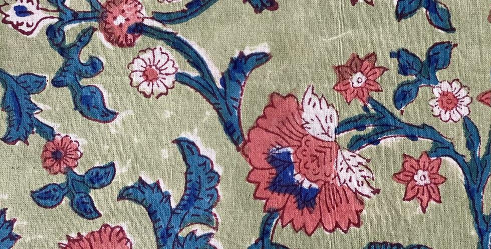 Mantel  verde y azul 2,70 x 1,80 cm