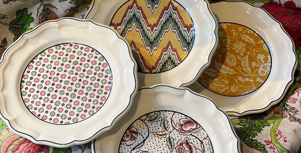 Nueva colección Cofre 4 platos, cerámica francesa  23,6 cm