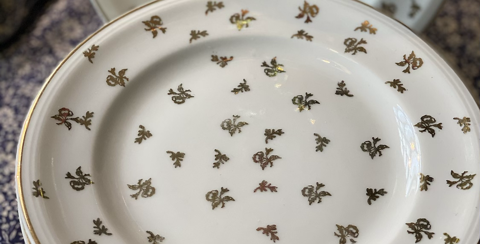 8 platos Limoges platos  merienda 17 cm. Años 60