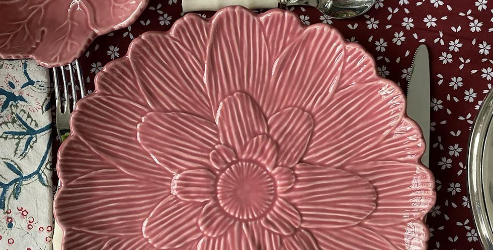Plato llano rosa 27 cm