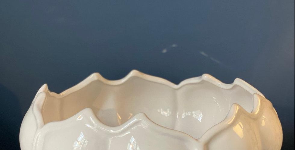 Ensaladera cerámica hojas de alcachofa