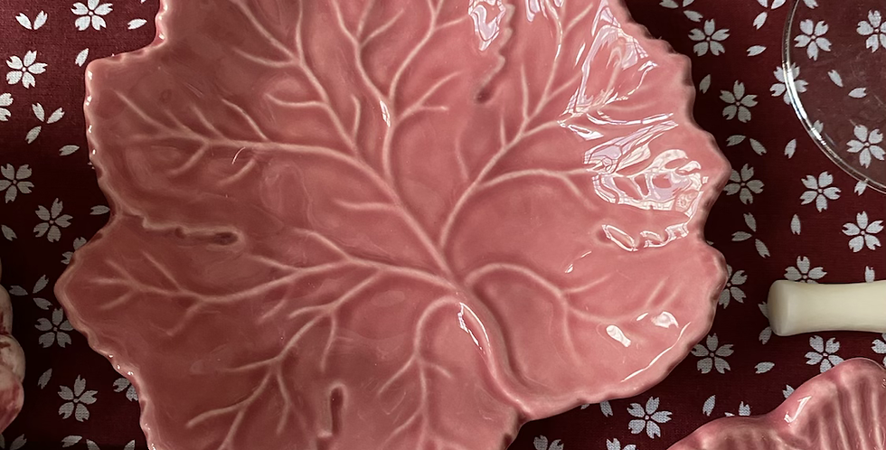 Plato parra rosa pequeño  14 cm