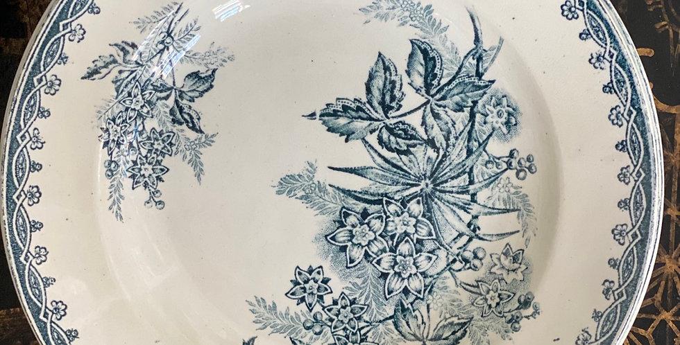 Plato hondo cerámica francesa, 21 cm