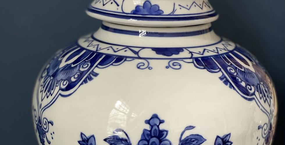 Vaso cerámica azul y blanca 31 cm