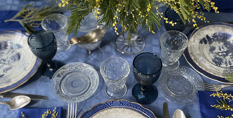 6 platos hondos vintage vidrio