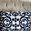 Thumbnail: Cojín azul y blanco 35x50 cm