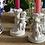 Thumbnail: Pareja de candelabros angelitos porcelana blanca