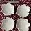Thumbnail: 6 platitos hoja blanca , cerámica portuguesa