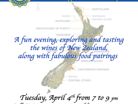 Civitan 'Wines of New Zealand' event, April 4