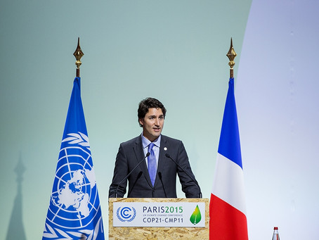Canada's Prime Minister Trudeau Supports COP21 - Climate Change Agreement