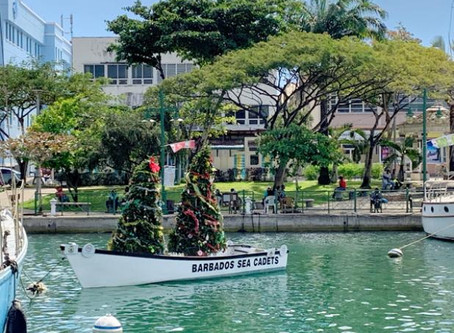 FLOATING TREES DRAW ATTENTION AS CHRISTMAS SEASON WINDS DOWN