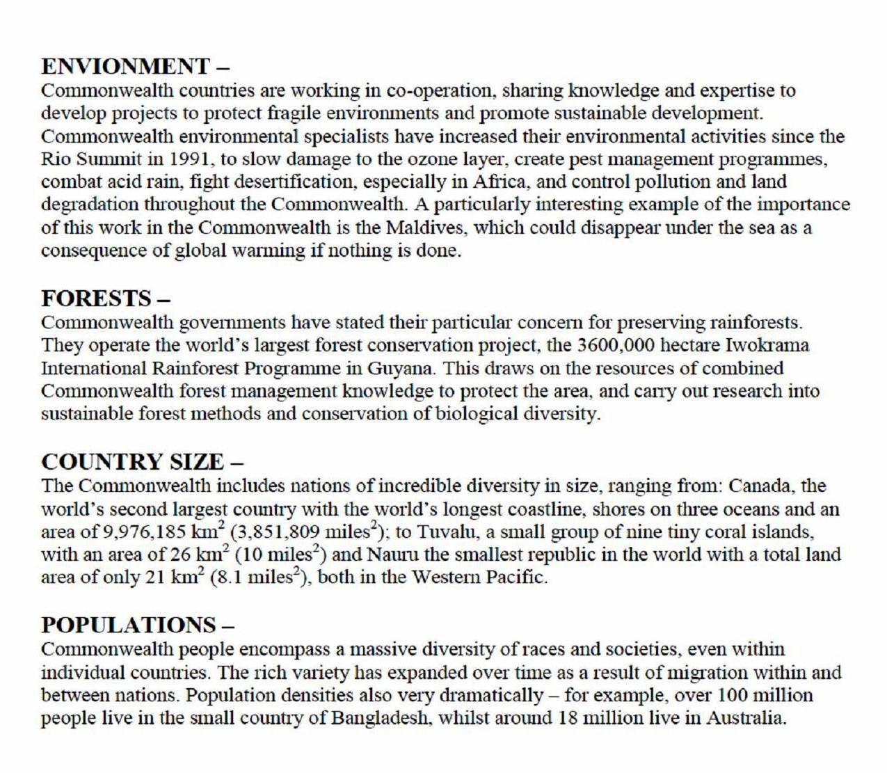 Commonwealth Family Characteristics 2