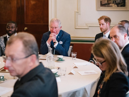 The @PrincesTrust discussion with The Prince of Wales and The Duke of Sussex