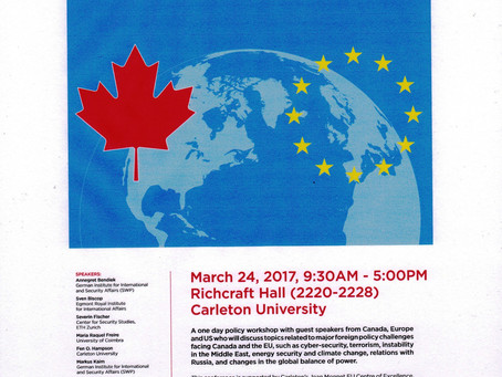 The EU and Canada in a Changing World Order: Addressing Structural Changes in a World in Flux