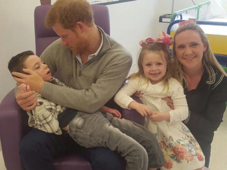 Prince Harry makes a surprise hospital visit to Ollie and Amelia