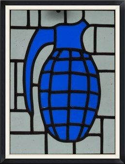 Kaboom Blue (267mm x 230mm / 10.5' x 9')
