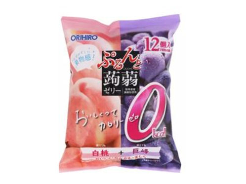 Zero Calorie Peach & Grape Konnyaku Jelly