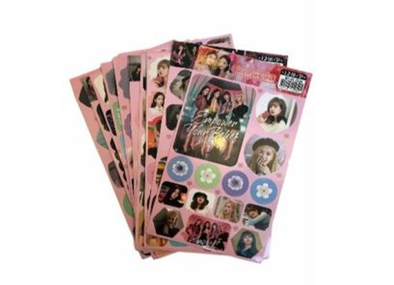 Black Pink Stickers 11-0007