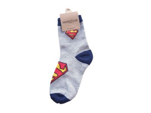 Superman Gray & Blue 7-8 Yrs Old 10191