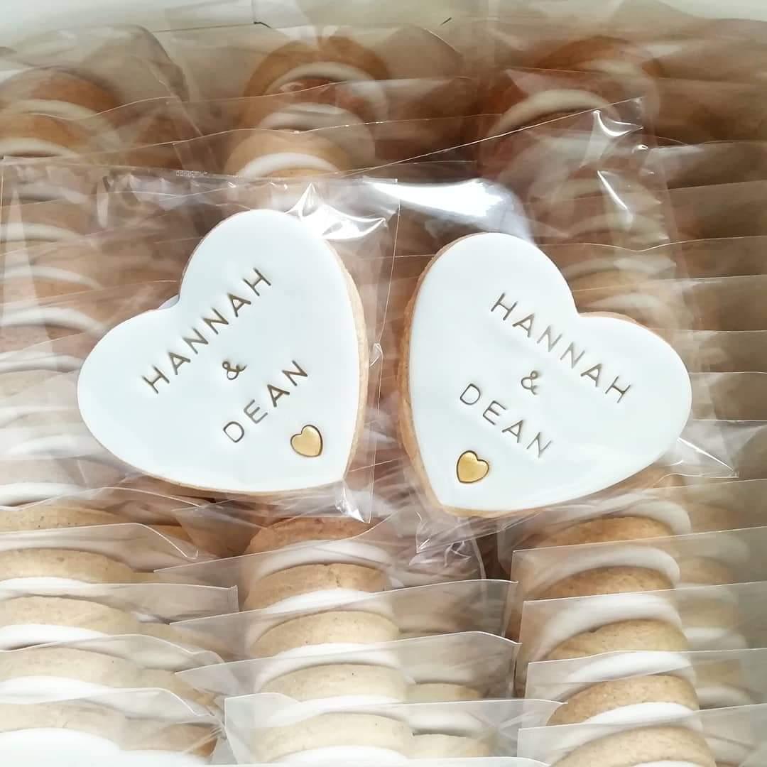 White wedding biscuit