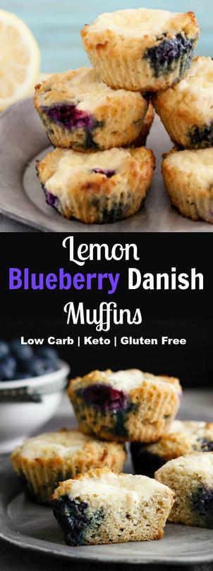 Lemon Blueberry Danish Muffins