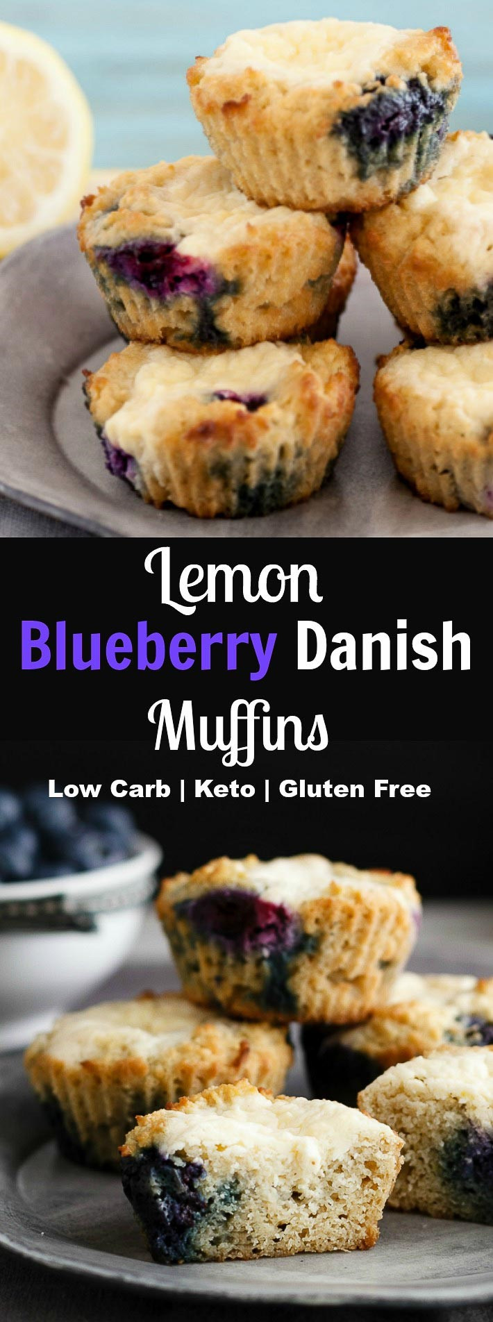 Lemon Blueberry Danish Muffins