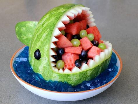 Fun Healthy Fruit Salad: Watermelon Shark