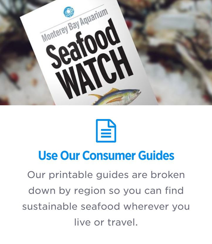 Seafood Watch Consumer Guides