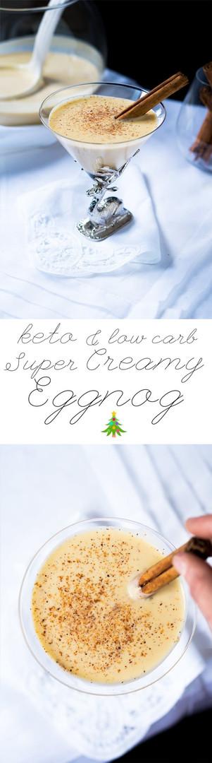 HOMEMADE EGGNOG (Low-carb |Keto|Gluten Free)